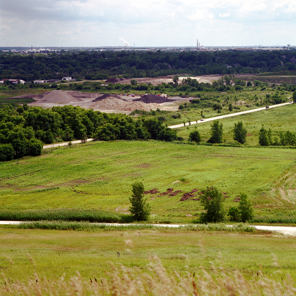 Landfills in the Chicago area photographed from July through December 2009